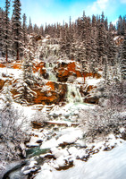 Tangle Falls in the Snow