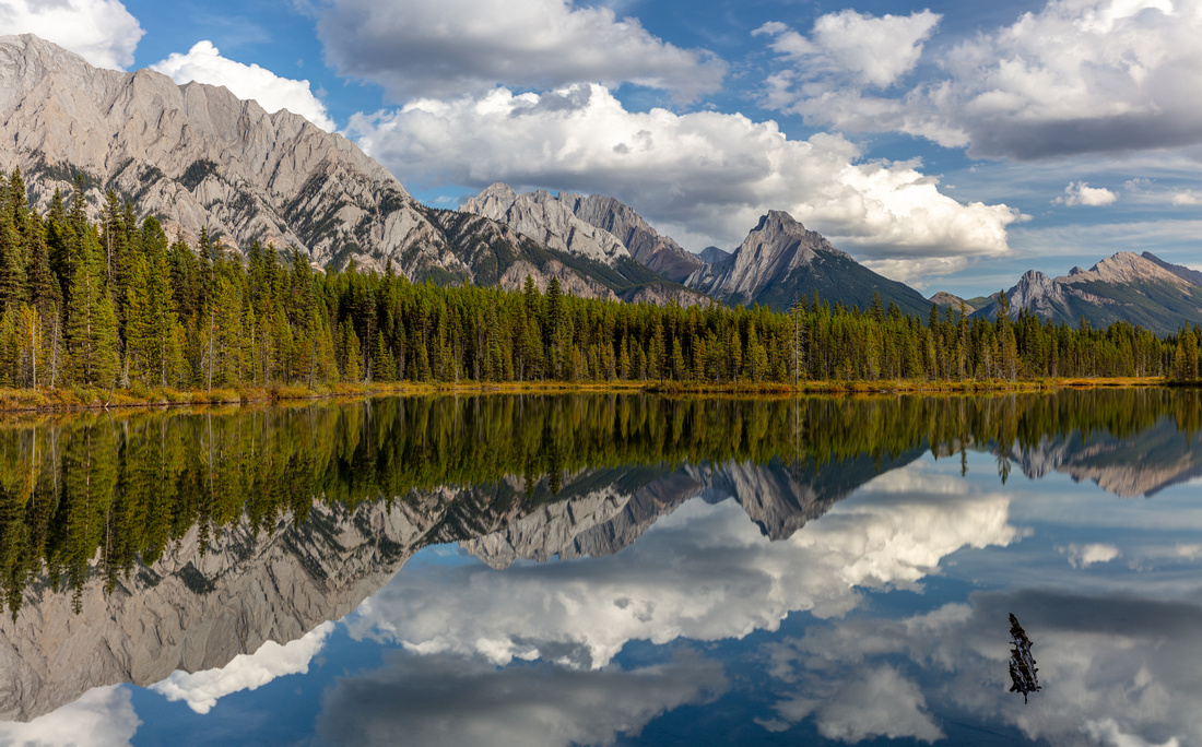 A Spray Valley Refection  Drew May Photo
