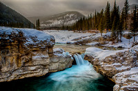 Elbow Falls in Snow