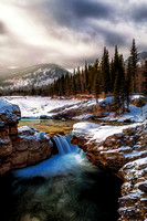 Elbow Falls in colour